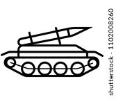 rocket missile tank icon in...