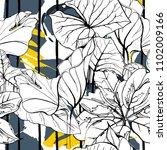 tropical  modern stripes motif. ...   Shutterstock .eps vector #1102009166