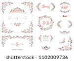 wedding graphic set with... | Shutterstock .eps vector #1102009736