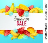 summer sale background with... | Shutterstock .eps vector #1102010189
