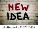business concept new idea | Shutterstock . vector #1102010456