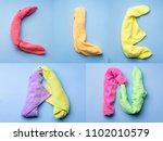 word clean written with... | Shutterstock . vector #1102010579