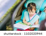 kid reading a book wait for... | Shutterstock . vector #1102020944