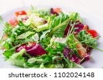 Fresh Salad With Green And...