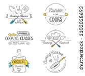 cooking class vintage design... | Shutterstock .eps vector #1102028693