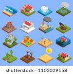 natural disaster isometric...   Shutterstock .eps vector #1102029158