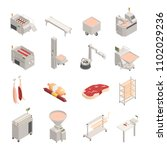 sausage factory set of... | Shutterstock .eps vector #1102029236