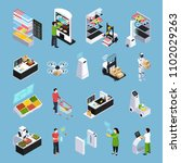 shop of future isometric icons... | Shutterstock .eps vector #1102029263