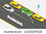 driving school isometric... | Shutterstock .eps vector #1102029320
