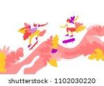 vector illustration of two... | Shutterstock .eps vector #1102030220