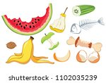 organic waste  food compost... | Shutterstock .eps vector #1102035239