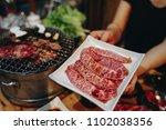 kobe beef yakiniku   Shutterstock . vector #1102038356