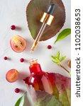 organic bio cosmetics with...   Shutterstock . vector #1102038653