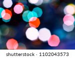 colorful bokeh abstract... | Shutterstock . vector #1102043573
