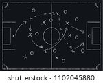 soccer or football game tactics ... | Shutterstock .eps vector #1102045880