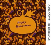 seamless halloween background.... | Shutterstock .eps vector #110204690