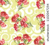 seamless floral pattern with... | Shutterstock .eps vector #1102047254