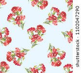 seamless floral pattern with... | Shutterstock .eps vector #1102047290