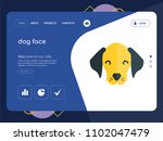 quality one page dog face...