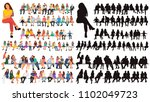 vector  isolated  silhouette... | Shutterstock .eps vector #1102049723