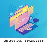 web development isometric... | Shutterstock .eps vector #1102051313