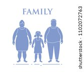 family. mom  dad and daughter.... | Shutterstock .eps vector #1102072763