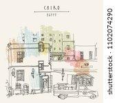 cairo  egypt  north africa. a...   Shutterstock .eps vector #1102074290