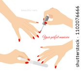 vector illustration of manicure ... | Shutterstock .eps vector #1102076666