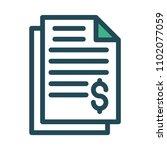 invoice bill document  | Shutterstock .eps vector #1102077059