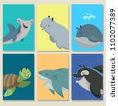 mini game cards with cute... | Shutterstock .eps vector #1102077389