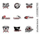 set of badminton team design...   Shutterstock .eps vector #1102082783