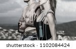 man and woman's torso. athletic ... | Shutterstock . vector #1102084424