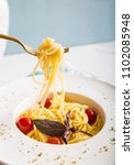 traditional italian pasta with... | Shutterstock . vector #1102085948