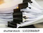 stack of paper documents with... | Shutterstock . vector #1102086869
