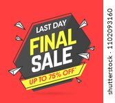 final sale banner template in... | Shutterstock .eps vector #1102093160