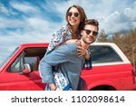 young smiling couple in... | Shutterstock . vector #1102098614