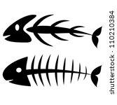 fish bone | Shutterstock .eps vector #110210384