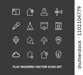 modern  simple vector icon set...   Shutterstock .eps vector #1102104779