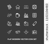 modern  simple vector icon set...   Shutterstock .eps vector #1102106483