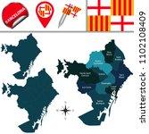 vector map of barcelona in... | Shutterstock .eps vector #1102108409