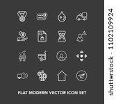 modern  simple vector icon set...   Shutterstock .eps vector #1102109924