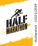 half marathon active sport...   Shutterstock .eps vector #1102112039