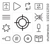 set of 13 icons such as web ...