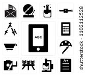 set of 13 icons such as tablet  ...