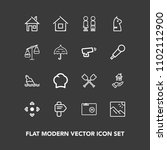 modern  simple vector icon set... | Shutterstock .eps vector #1102112900