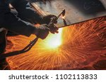 welding  or gas welding in the... | Shutterstock . vector #1102113833