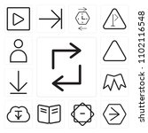 set of 13 icons such as retweet ...
