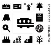 set of 13 icons such as school...