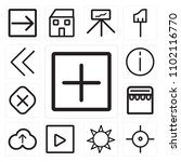 set of 13 icons such as add ...