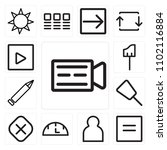 set of 13 icons such as video...